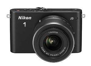 Nikon 1 J3 Systemkamera (14 Megapixel, 7,5 cm (3 Zoll) LCD-Display, Full HD) Double Zoom Kit inkl. 1 Nikkor 10-30 mm und 30-110 mm Objektiv schwarz