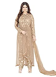 YOUR CHOICE Soft Net Blue Embroidered Women's Anarkali Suit PRI158