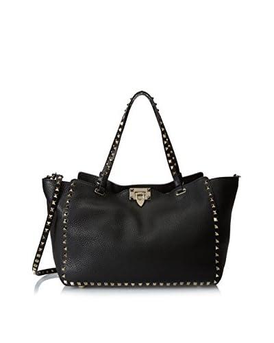 Valentino Women's Medium Rockstud Shoulder Bag, Black