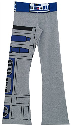 Star Wars R2D2 Movie Team Print Mighty Fine Womens Juniors Lounge Yoga Pants