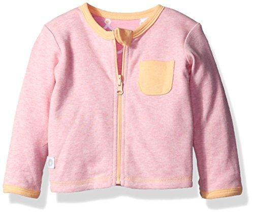 Boppy Girls' Reversible Cardigan, Heather Pink, 6 Months