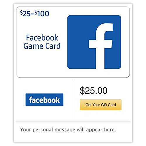 Facebook Gift Cards – E-mail Delivery