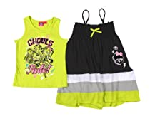 Monster High Girls 3 Way Shirt Maxi Skirt or Dress Set (6/6X, Green)