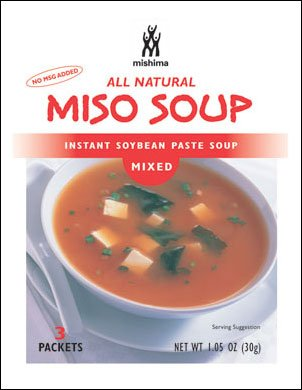 Mishima Instant Soup Mix, Mixed Miso, 1.05-Ounce Packets (Pack of 12)