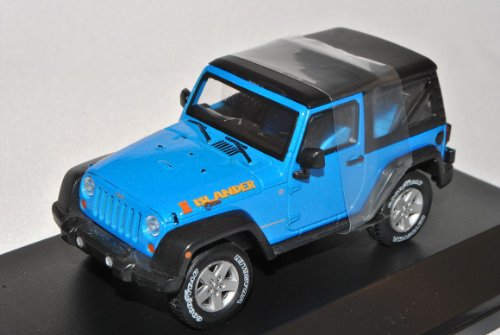 Jeep Wrangler Rubicon Mit Soft Top Blau Islander Ab 2012 1/43 Greenlight Modell Auto