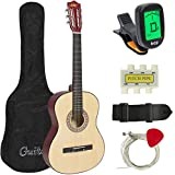 Best Choice Products 6 String Acoustic Guitar Pack, Ambidextrous, Beige, Adult (SKY433)