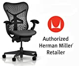 Herman Miller Basic Home Office Desk Task Chair - Graphite Frame with Graphite Seat and Backrest - Fixed Arms and Standard BB Casters