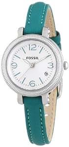Fossil Damen-Armbanduhr XS Heather Analog Quarz Leder ES3333