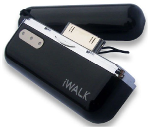 プロテック iWALK モバイルバッテリー for iPhone&iPod PIB-800BK ブラック 【iPhone 3G,3GS,4/iPod nano 5G】