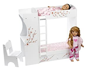 Fits American Girl Doll Bunk Bed & Desk Combo - 18 Inch Dolls Furniture