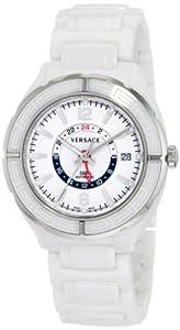 Versace Women's 02WCS1D001 SC01 DV One Swiss Automatic Ceramic Dual Time Zone Watch