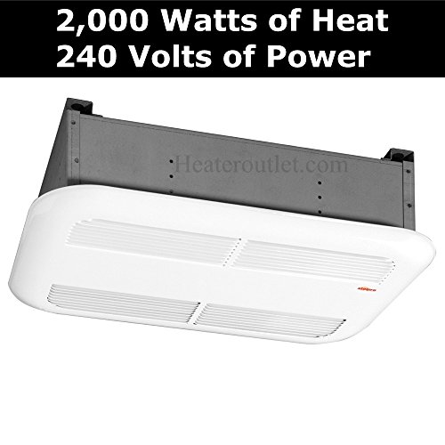 Powerful 2,000 Watt Bathroom Ceiling Heater Stelpro Sk2002W, This 240 Volt Ceiling Heater Will Quickly Heat Most 200 Square Foot Rooms In Your Home. When You Need A Quiet & Reliable Fan Forced Electric Heater