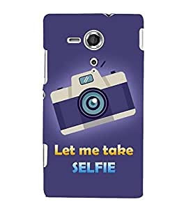 Let Me Take Selfie 3D Hard Polycarbonate Designer Back Case Cover for Sony Xperia SP :: Sony Xperia SP M35h