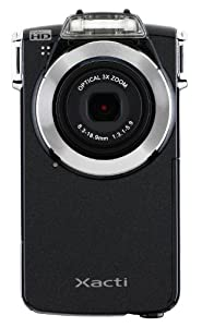 Sanyo VPC-PD2BK Full HD Pocket Movie Dual Camera with 10 MP Digital Photos and 3X Optical Zoom (Black) NEWEST MODEL