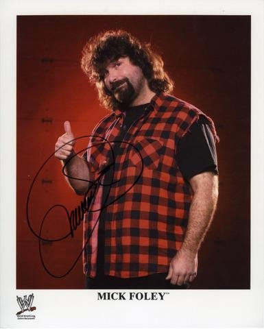 "Mick Foley Autographed 8"" x 10"" Pose Photograph - Fanatics Authentic Certified - Autographed Wrestling Photos"