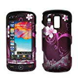 Premium 2D Purple Hearts and Flowers Design Snap-On Cover Hard Case Cell Ph ....