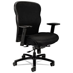 VL705 Series Big & Tall Mesh Chair, Mesh Back/Fabric Seat, Black