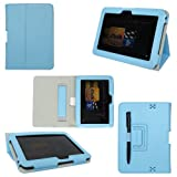 ProCase old generation Kindle Fire HD 7 Case - Bi-Fold Stand Folio Cover for Amazon Kindle Fire HD 7 Inch Tablet (2012 version) auto sleep /wake feature (Blue) ~ ProCase