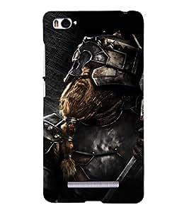 EPICCASE Battle Warrior Mobile Back Case Cover For Xiaomi Redmi Mi4i (Designer Case)