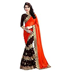 khanak export Women's Georgette Saree(KE_08_Multi-Coloured_Free Size)