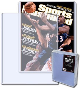 BCW 9 X 11.5 X 7 mm - Magazine Topload Holder (10 Holders/Pack) Sports Illustrated, Playboy Magazines, Time, Newsweek - Collecting Supplies