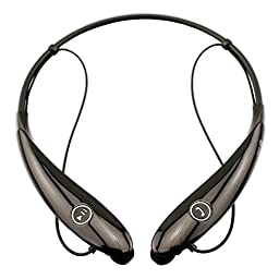 Lecoolife Bluetooth Headphones, Wireless Sport Running Stereo Lightweight Neckband Design Noise Cancelling Sweatproof Headset with APT-X/Mic for iPhone 6s Samsung Android Phones (Black)