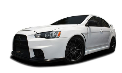 2008-2015 Mitsubishi Lancer Duraflex Evo X Look Body Kit - 12 Piece - Includes Evo X Look Front Bumper Cover (106953) Evo X Look Side Skirts Rocker Panels (106954) Evo X Look Rear Bumper Cover (106955) Evo X Look Front Fenders (106956) Evo X Look Rear Fenders (106957) Evo X Look Rear Wing Trunk Lid Spoiler (106959) Evo X Look Plate Frame (106960) (Body Kit Mitsubishi Lancer compare prices)