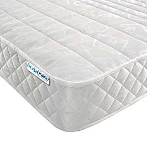 3FT SINGLE MICRO QUILTED MATTRESS 16CM DEEP WHITE