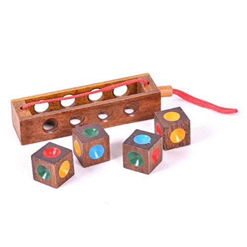 KINGOU Wooden Color Chess Logic Puzzle Burr Puzzles Brain Teaser Intellectual Toy