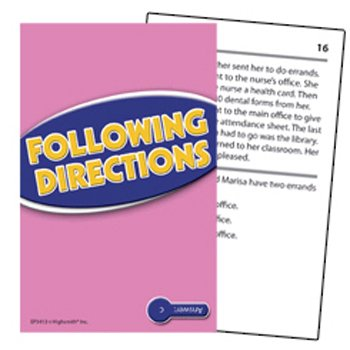 Following Directions Practice Cards Blue Level