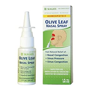 Seagate Olive Leaf Nasal Spray, 1-Ounce Boxes (Pack of 2)