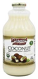 LAKEWOOD JUICE COCONUT MILK ORG, 32 FO