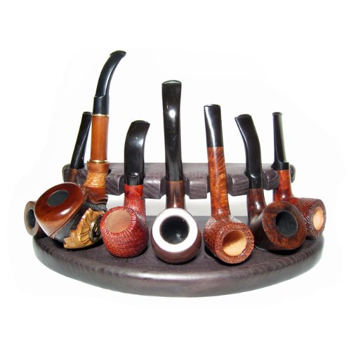 7 New Wooden Pipes Stand-showcase, Rack Holder for 7 Tobacco Smoking Pipes . Handmade.....limited Edition.....