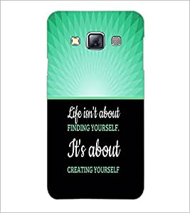PrintDhaba Quote D-3291 Back Case Cover for SAMSUNG GALAXY A3 (Multi-Coloured)
