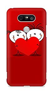 Amez designer printed 3d premium high quality back case cover for LG G5 (Heart valentines day)
