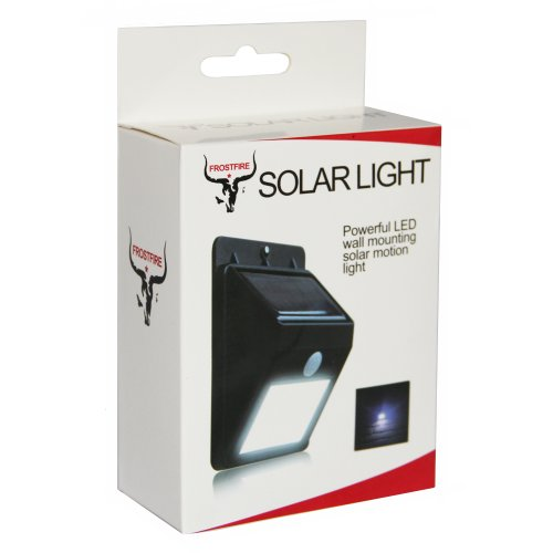 The Frostfire Solar Led Outdoor Light Is A High Quality Light Suitable As A Security Light Or Shed Garage Light The Frostfire Solar Light Uses A Powerful