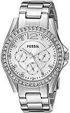 Comprar Fossil  0 - Reloj de cuarzo para mujer, con correa de acero inoxidable, color plateado