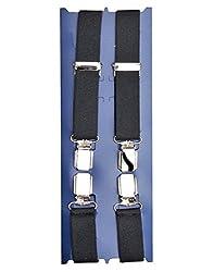 TieKart Black Plain Men's Belts-Suspenders