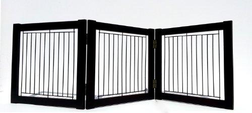 Welland Wood And Steel Designer Indoor Safety Pet Gate (54-Inch, Espresso) front-676217
