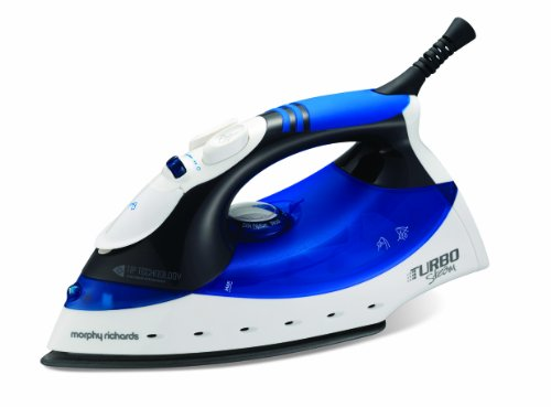 Morphy Richards Turbosteam 40679 Steam Iron Diamond Soleplate - Blue