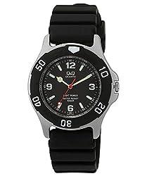 Q&Q Regular Analog Black Dial Mens Watch - H950J002