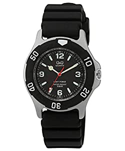 [シチズン キューアンドキュー]CITIZEN Q&Q 腕時計 SOLARMATE (ソーラーメイト) ソーラー電源 アナログ表示 10気圧防水 ブラック H950J002 メンズ