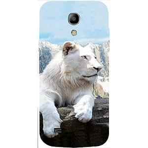 Casotec Snow Lion Design 3D Hard Back Case Cover for Samsung Galaxy S4 Mini