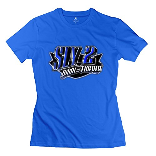 sly-cooper-2-logo-crazy-100-cotton-royalblue-tees-for-adult-size-m