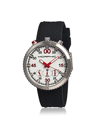 Morphic Men's MPH2901 M29 Series Black/White Silicone Watch