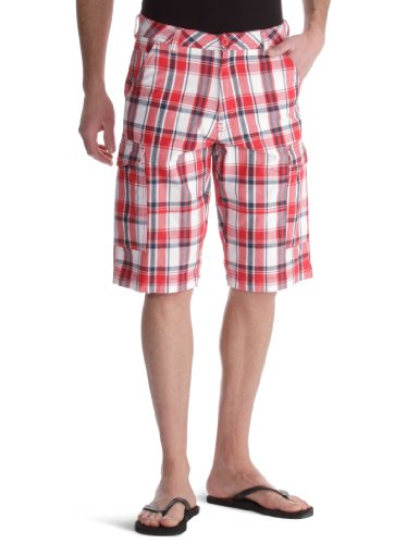 Wrangler Basic Check Men's Shorts Rectory Red W28 IN