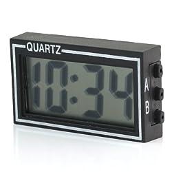 Mini Digital LCD Auto Car Truck Dashboard Desk Date Time Calendar Clock Black