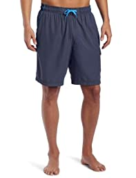 Speedo Men\'s Marina Core Basic Watershorts, Grey/Blue, Medium