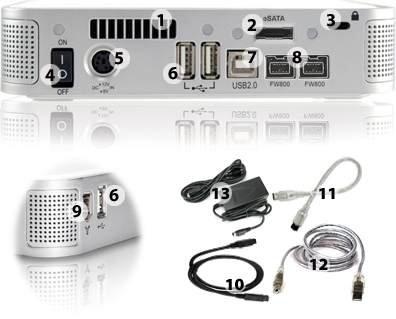 NewerTech MiniStack v3 Quad Interface' FireWire® 800/400/USB 2.0/eSATA Powered Hub Storage Solution