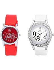 Watch Me MULTI Combo Set Of 2 Analogue Watches Gift For WOMEN WMAL-103R-97W